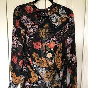 Floral Sheer Shirt